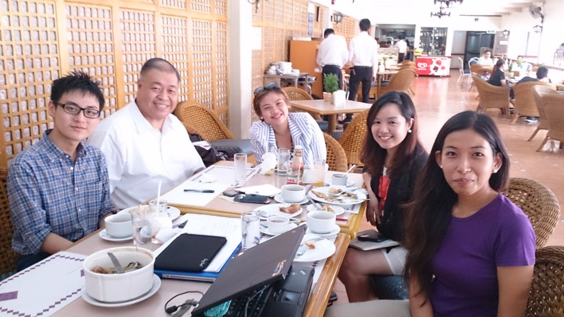 Aloy and some of the key BCYF persons with the Chairman, Mr. Tony Yap.Photo copyright 2014 Allister Roy S. Chua